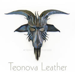 Leather Baphomet Goat Mask by Teonova