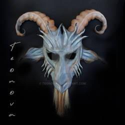 Leather Baphomet Goat Mask by Teonova Masks