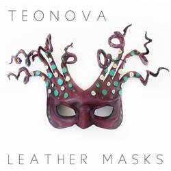 Octopus Medusa Leather Mask By Teonova