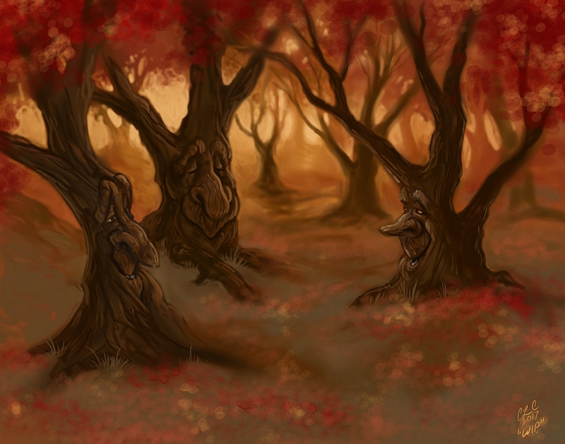 Autumn Tree Spirits - WIP by CLCanadyArts