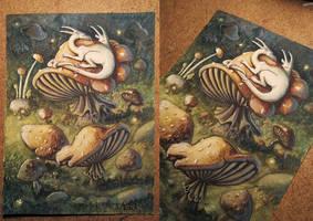 Sleepy Dragons by CLCanadyArts