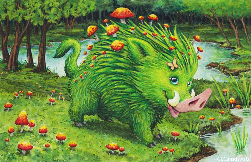 Grass Piggy by CLCanadyArts
