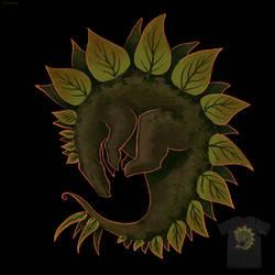 Leafy Stego - T-shirt design