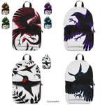 Bird backpack designs by CLCanadyArts