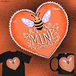 Bee Mine by CLCanadyArts