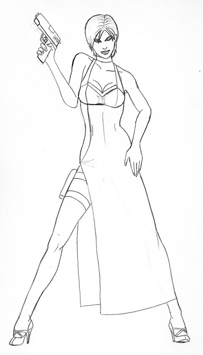 ada wong coloring pages - photo#14
