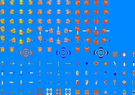 Zelda sprite sheet by ironmanof