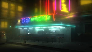 Cyberpunk Diner by JKedzie1138