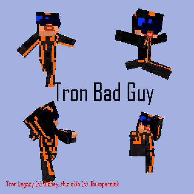 Minecraft Tron Bad Guy by Jhumperdink