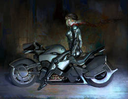 Biker Lady by Kikikurnia