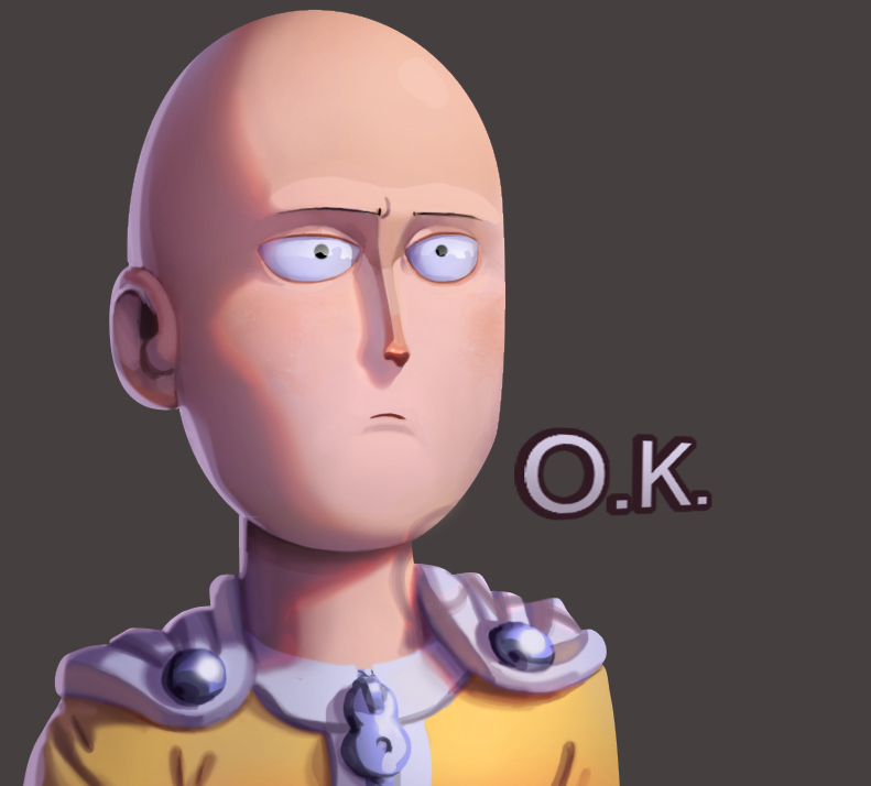 One Face A Day 14 365 Saitama Ok One Punch Man By Dylean On Deviantart