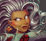 One face a day #27/365. Storm (x-men) by Dylean