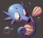 One face a day #37/365. Horsea (pokemon)
