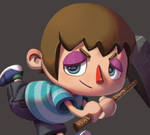 One face a day #39/365. Villager (Animal Crossing) by Dylean