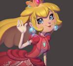 One face a day #71/365. Princess Peach (Mario)