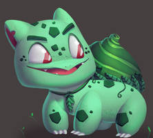 One face a day #77/365. Bulbasaur (pokemon) by Dylean