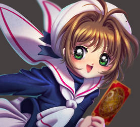 One face a day 122/365. Sakura card captors