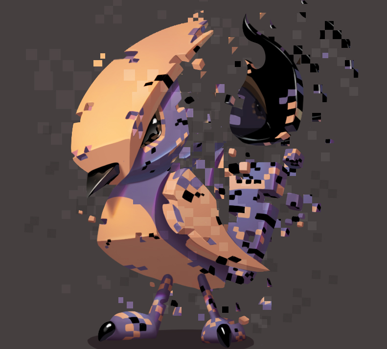 one face a day 179/365. MissingNo (pokemon) by Dylean