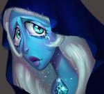 One face a day 182. Blue Diamond (steven univese)