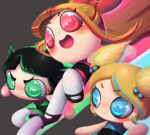 one face a day 196/365. The Powerpuff Girls