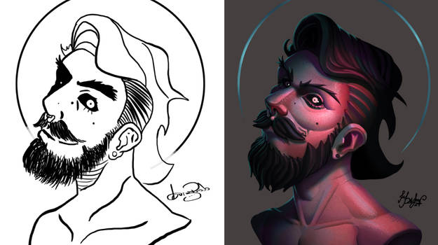 One face a day 210/365. Luiz Filipe (artist)