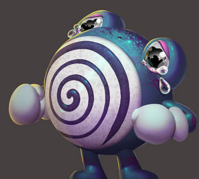 One face a day 214 Poliwhirl (pokemon)