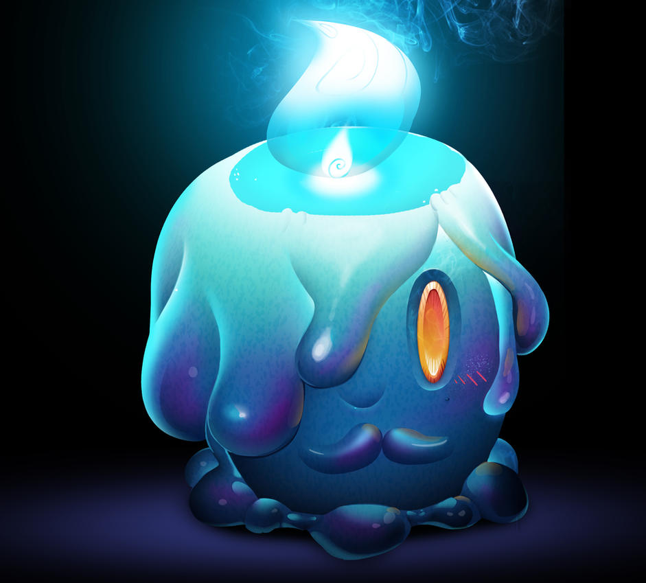 One Face a Day 226 - Litwick (pokemon) commission by Dylean