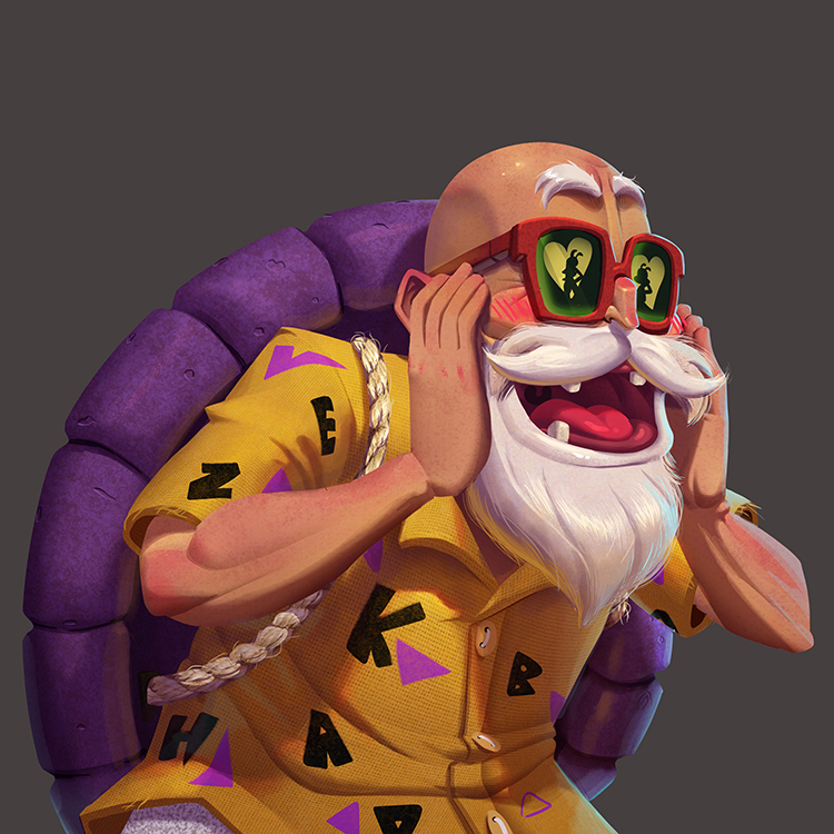 One face a day 231 Master Roshi (Dragon Ball)