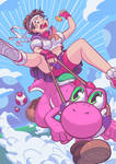 Sakura and yoshi