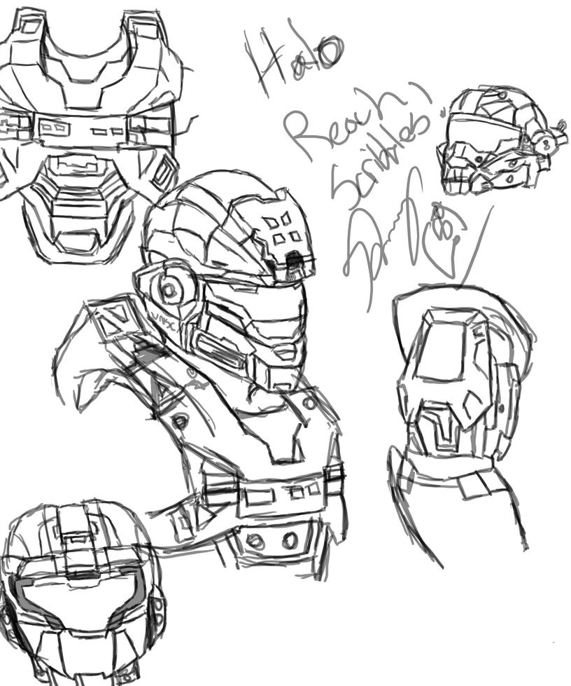 Halo odst coloring pages coloring pages for Halo 3 coloring pages