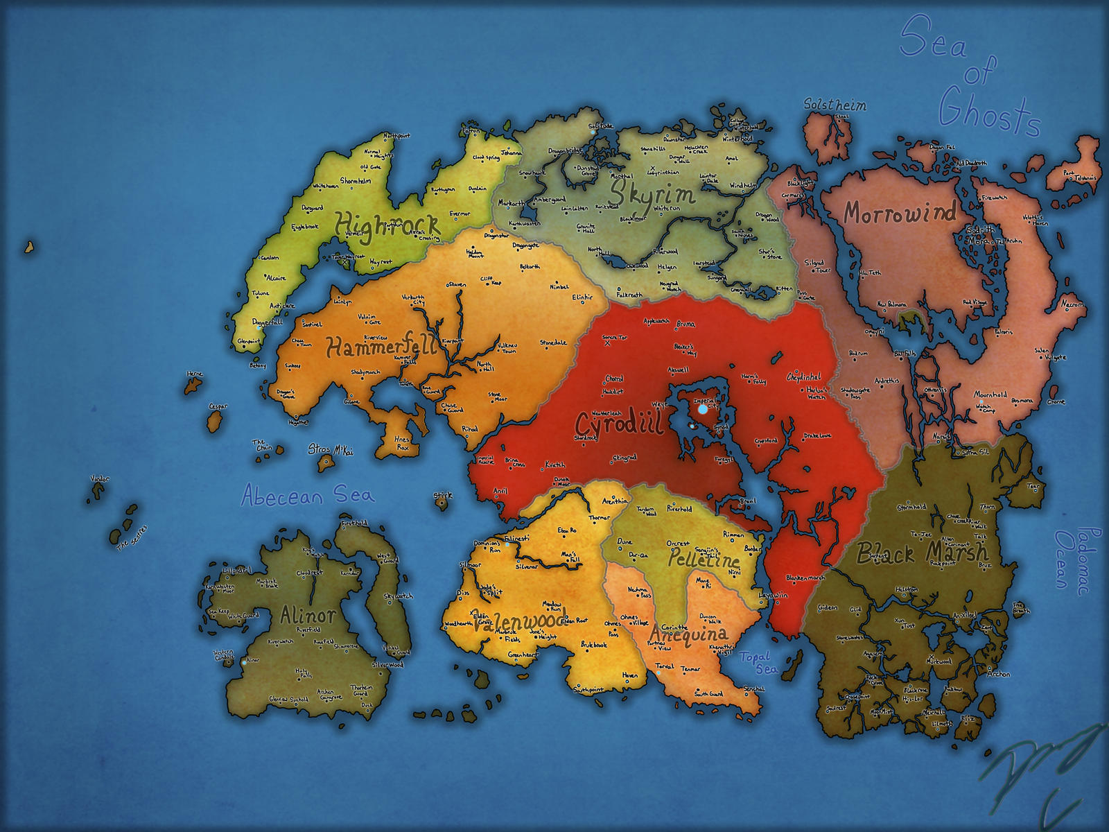 My 4e202 Tamriel Provinces Map Stage 2 By Guyver89 On Deviantart