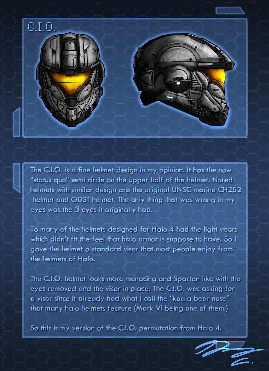 Halo 4 Helm Redesign C.I.O. by Guyver89