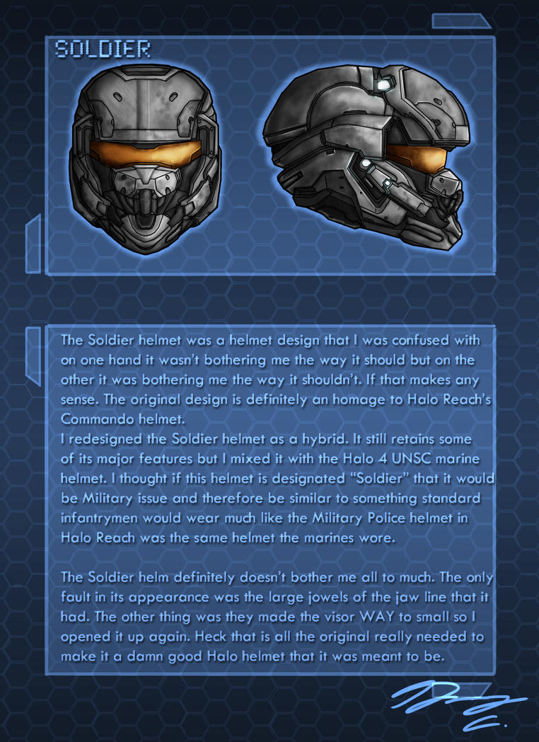 Halo 4 Helm Redesign Soldier by Guyver89