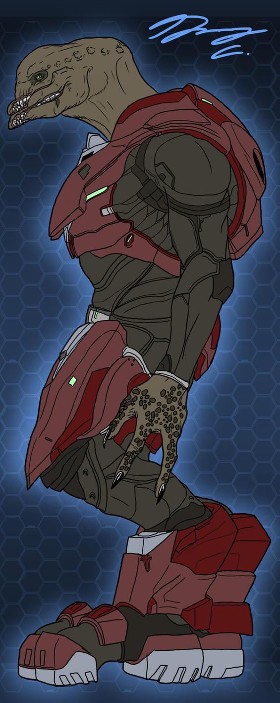 Halo 4 Sangheili Soldier WIP by Guyver89