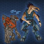 Halo 4 Vadam Loyalist Grunt and Jackal WIP