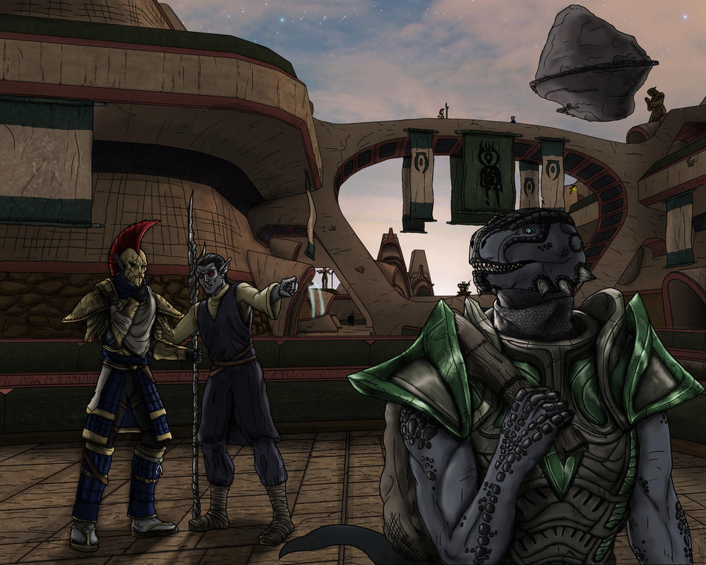 Commission: The City of the Vehks by Guyver89