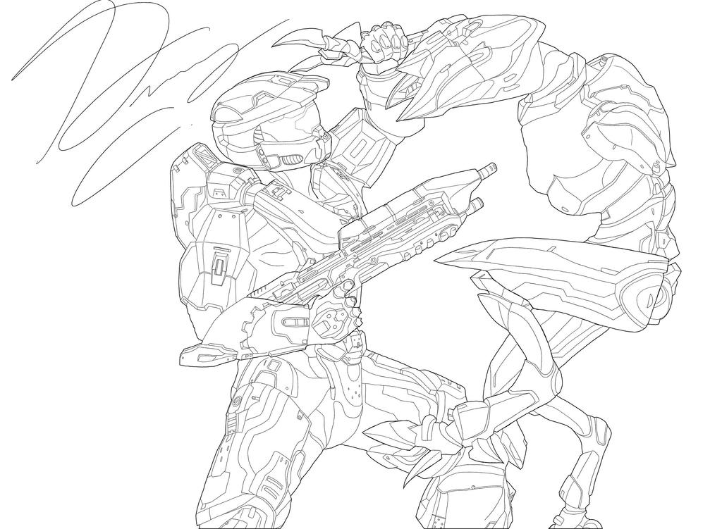 Halo 4 Coloring Pictures My Related Art Armor Comics Etc Community Creations