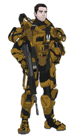 Commission: SPARTAN Aaron Malcolm - Amber-1