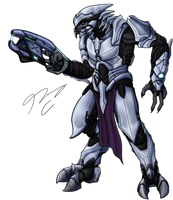 Commission - Sangheili Vien 'Quitonm by Guyver89
