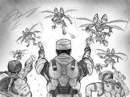 Halo-Ween 2018 - #3 Bear The Swarm by Guyver89