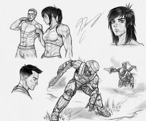 Art Style Sketch Page - GUNNM by Guyver89