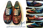 Tangled Shoes (Hand Painted)