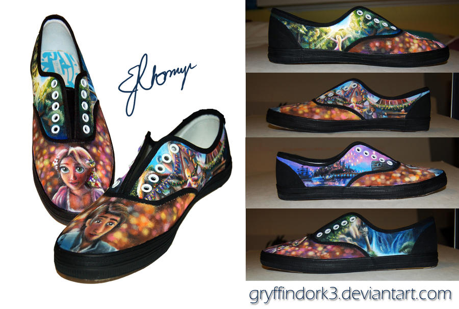 Tangled Shoes (Hand Painted) II by Gryffindork3