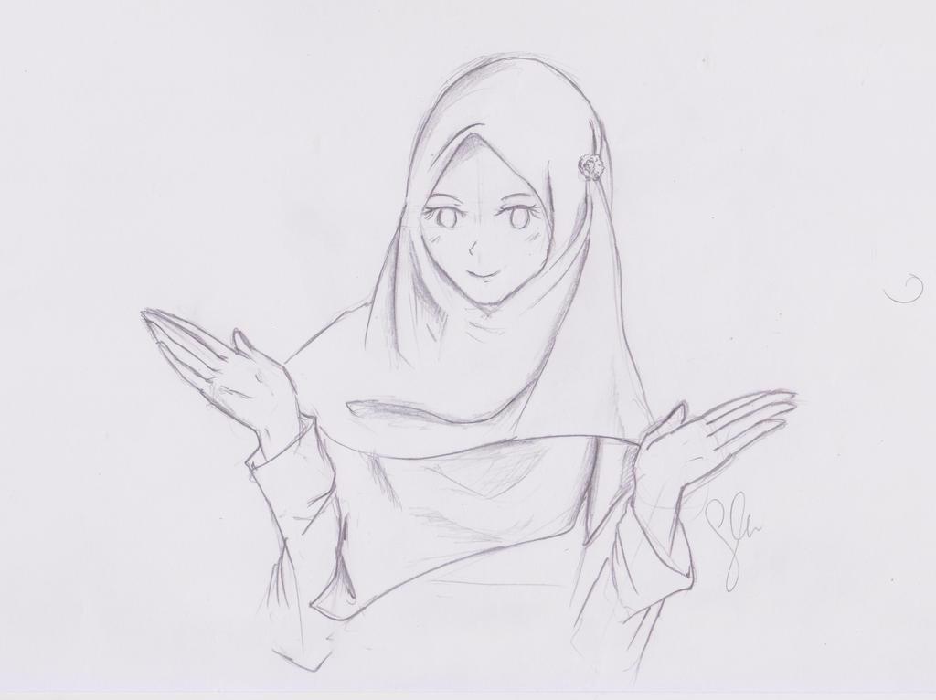 Anime Hijab Sketsa Girl 2 By Fleurtwidash On Deviantart