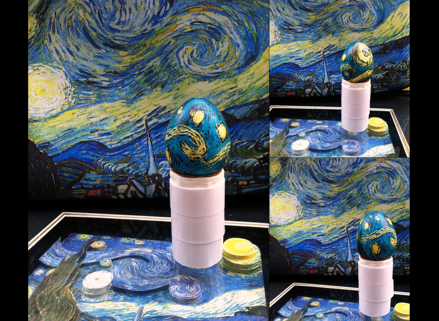 Starry Night Pysanky by erikathestrange