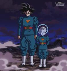 Goku w/ Grand Priest by Pinmasters99