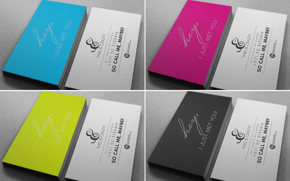 So call me, maybe! Business Card - CMYK versions by PUReeYEZ on ...