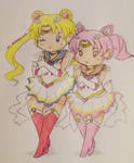 Chibi Sailor Moon and ChibiMoon
