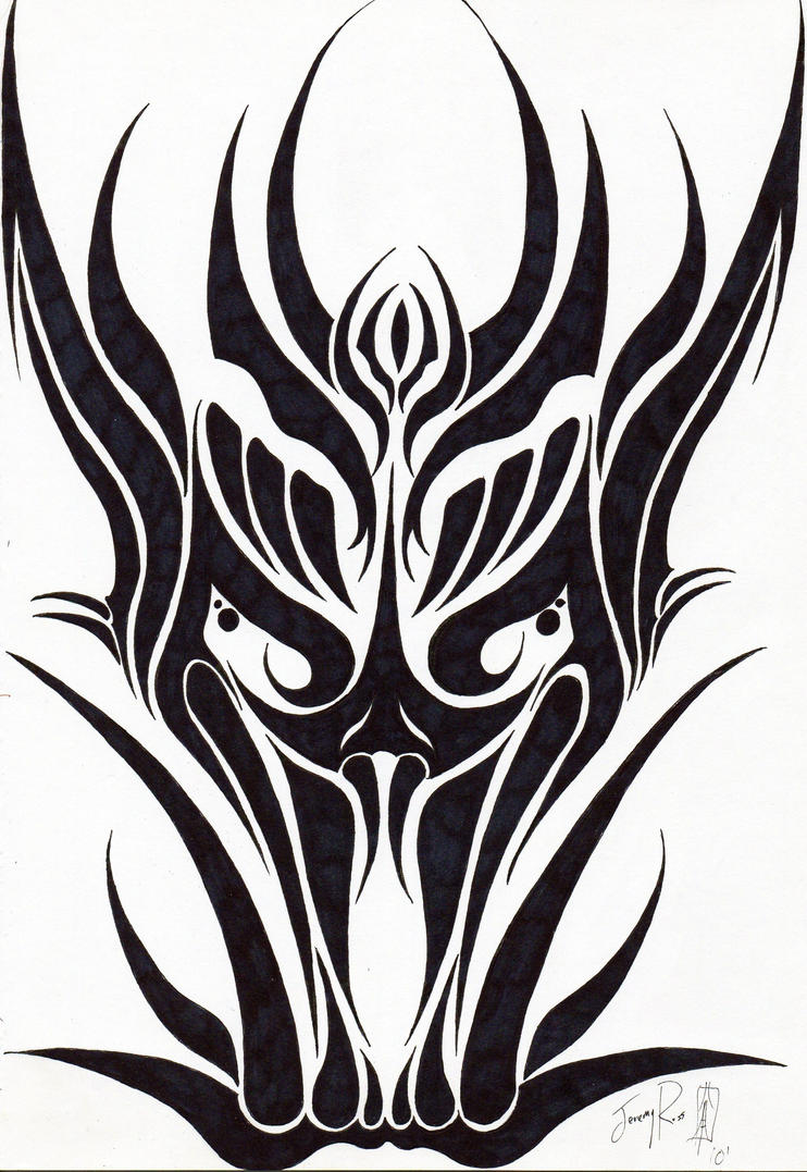 Tribal Dragon Face Tattoo Dragon Tattoos And Designs Page 36