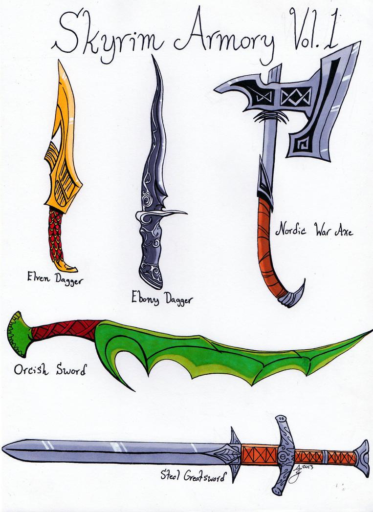 Skyrim weapons cache 1 by razmakai